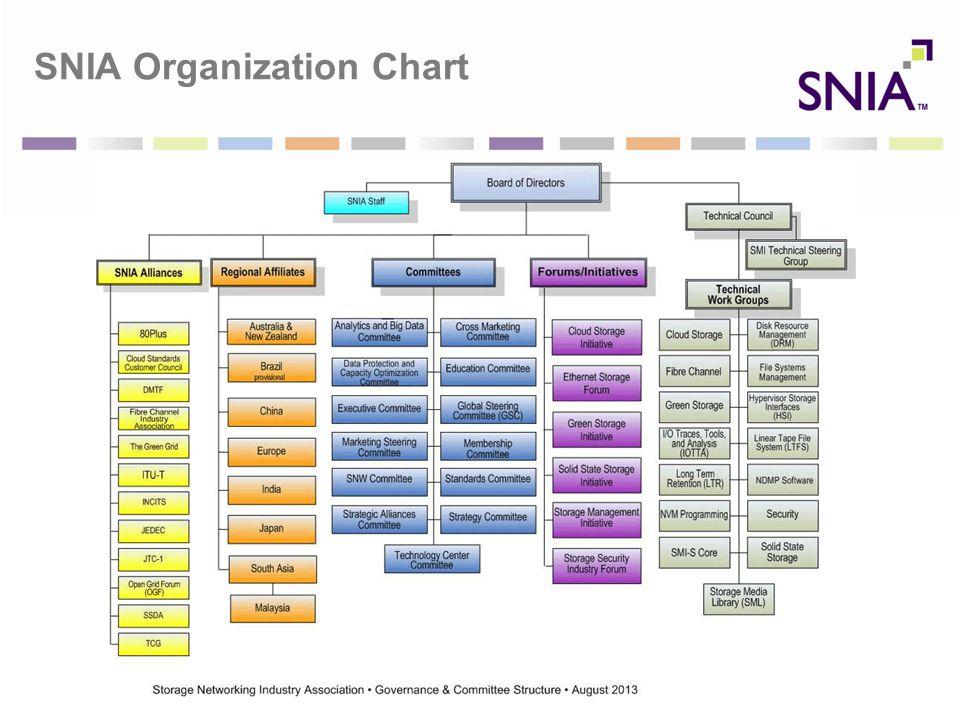 SNIA Organization Chart
