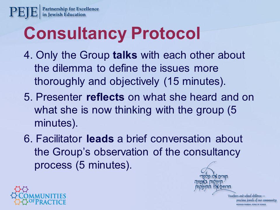 Consultancy Protocol 4.
