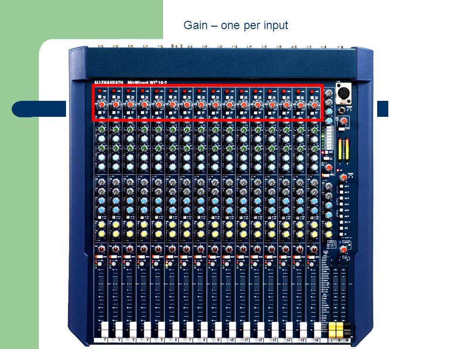 Gain – one per input