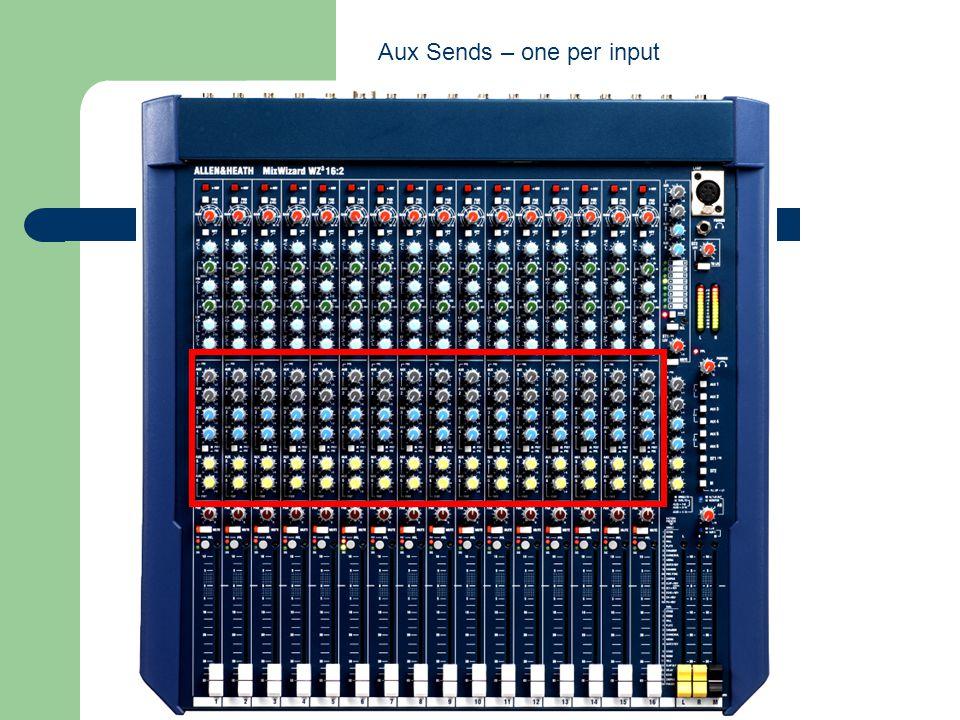 Aux Sends – one per input