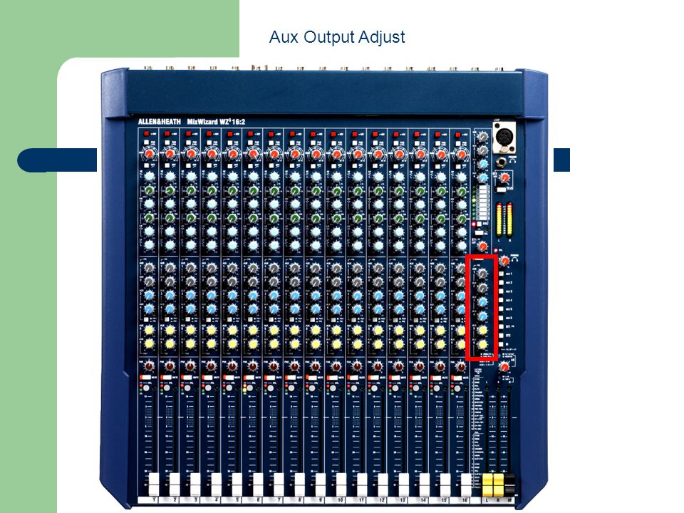 Aux Output Adjust