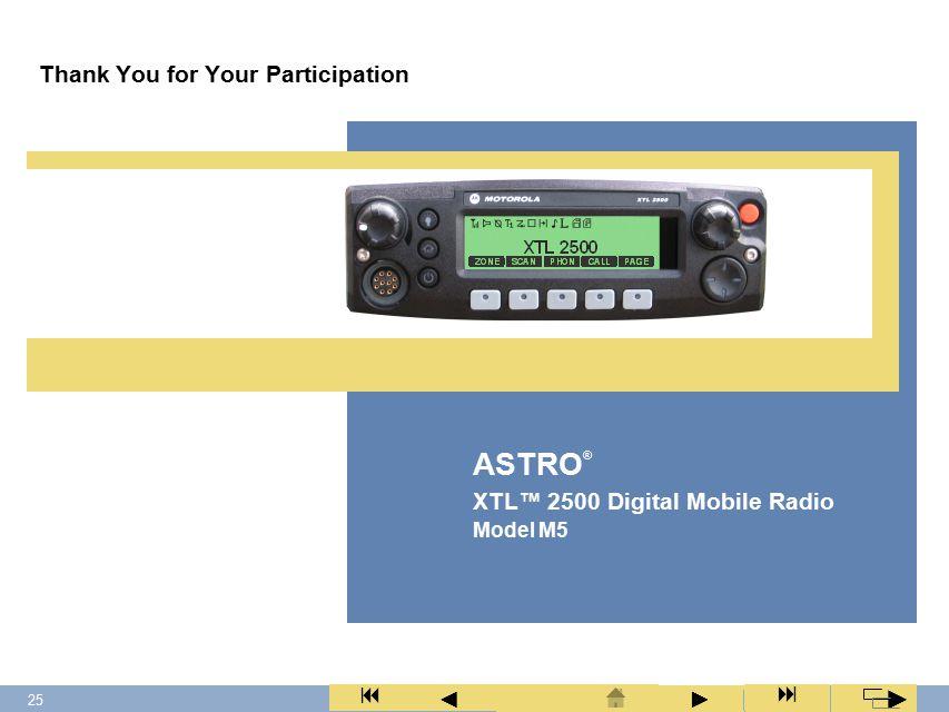 24 XTL™ 2500 Digital Mobile Radio Model M5 ► ◄ ► 1.Take the microphone off hook (HUB or hang-up box).