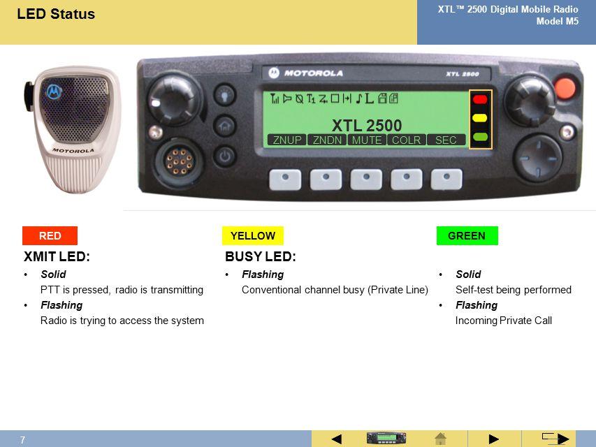 6 XTL™ 2500 Digital Mobile Radio Model M5 ► ◄ ► Z1Z2Z3Z4Z5Z6 C1 C2 C3 C4 C5 C6 C7 C8 C9 C10 C11 C12 C13 C14 C15 C16 Fleet Map
