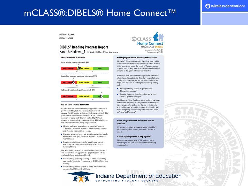 mCLASS®:DIBELS® Home Connect™