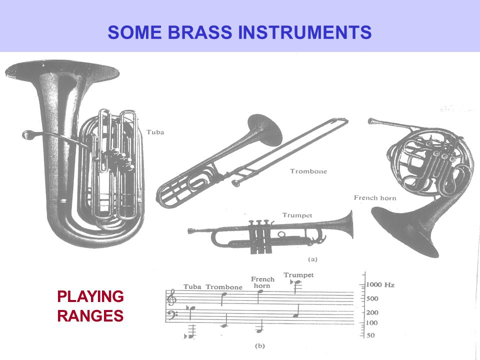 COMPARISON OF BRASS INSTRUMENTS