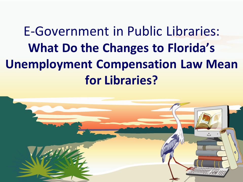 E-Government in Public Libraries: What Do the Changes to Florida's Unemployment Compensation Law Mean for Libraries?