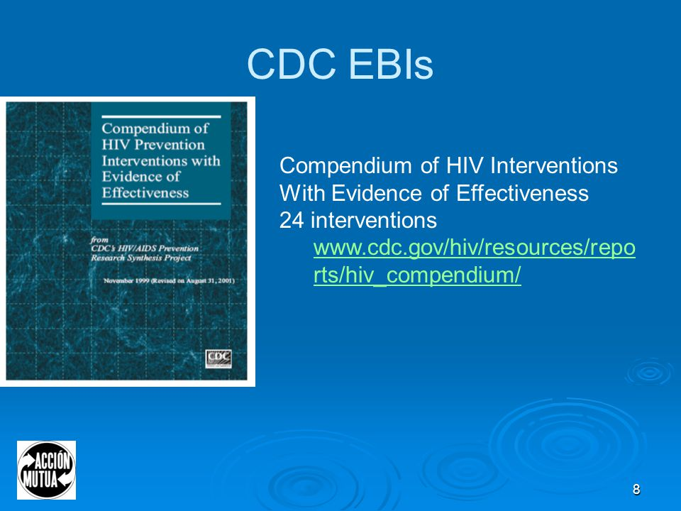 49 CDC Provisional Procedural Guidance for CBOs  http://www.cdc.gov/hiv/topics/prev_prog/AHP/resources/ guidelines/pro_guidance.htm http://www.cdc.gov/hiv/topics/prev_prog/AHP/resources/ guidelines/pro_guidance.htm  Covers core elements, resource requirements, quality assurance, monitoring and evaluation  Policies and standards for Confidentiality Cultural competence Data security Informed consent Legal and ethical policies Referrals for additional client services Liability insurance and applicability of workers' compensation for volunteers