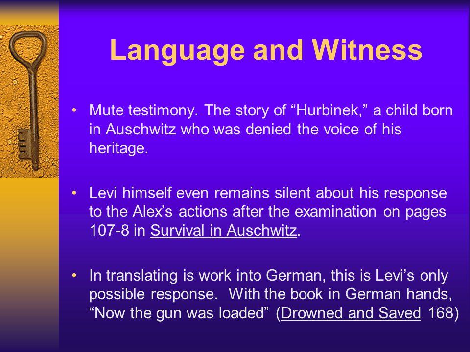 Language and Witness Mute testimony.