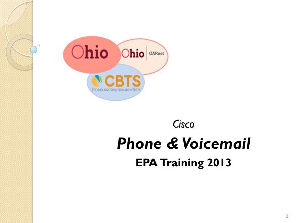 Cisco Phone & Voicemail EPA Training 2013 2