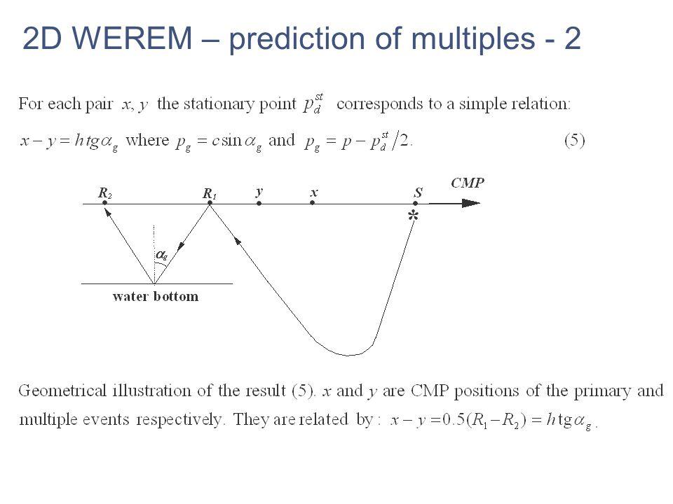 2D WEREM – prediction of multiples - 2