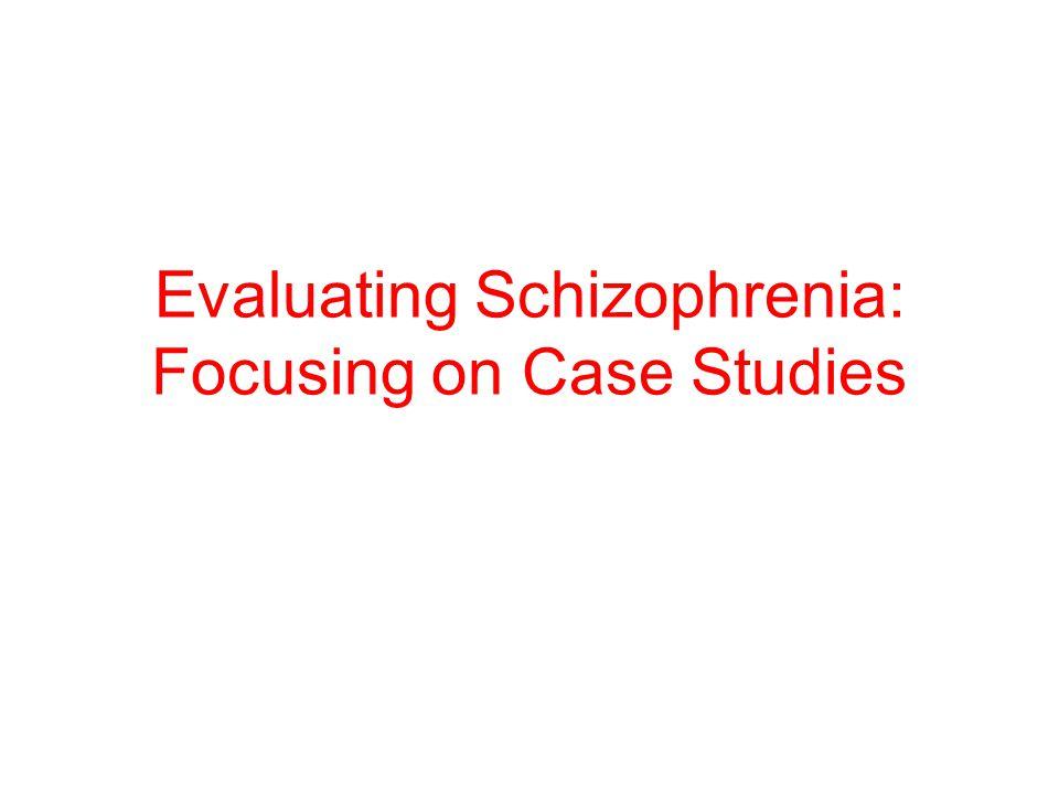 paranoid schizophrenia case studies