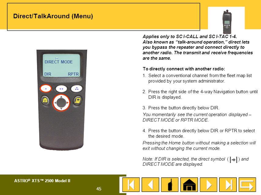 ASTRO ® XTS™ 2500 Model II 44 MENU