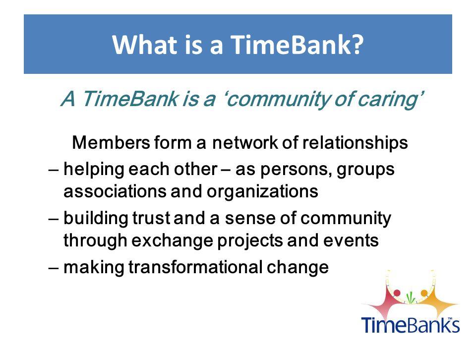 TimeBanks Start Up Ingredients