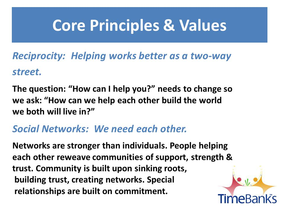 TimeBanks USA Offers Community Weaver 2.0 Community Network Software Network of TimeBanks supporting and learning from one another to create a united movement.