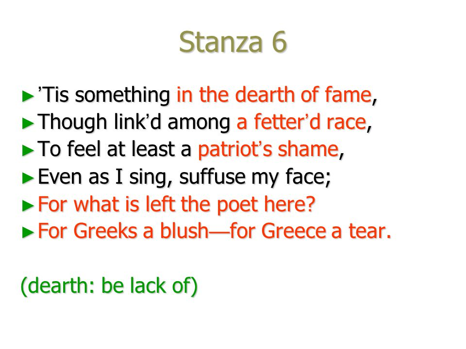 Stanza 5 ► And where are they. and where art thou, ► And where are they.