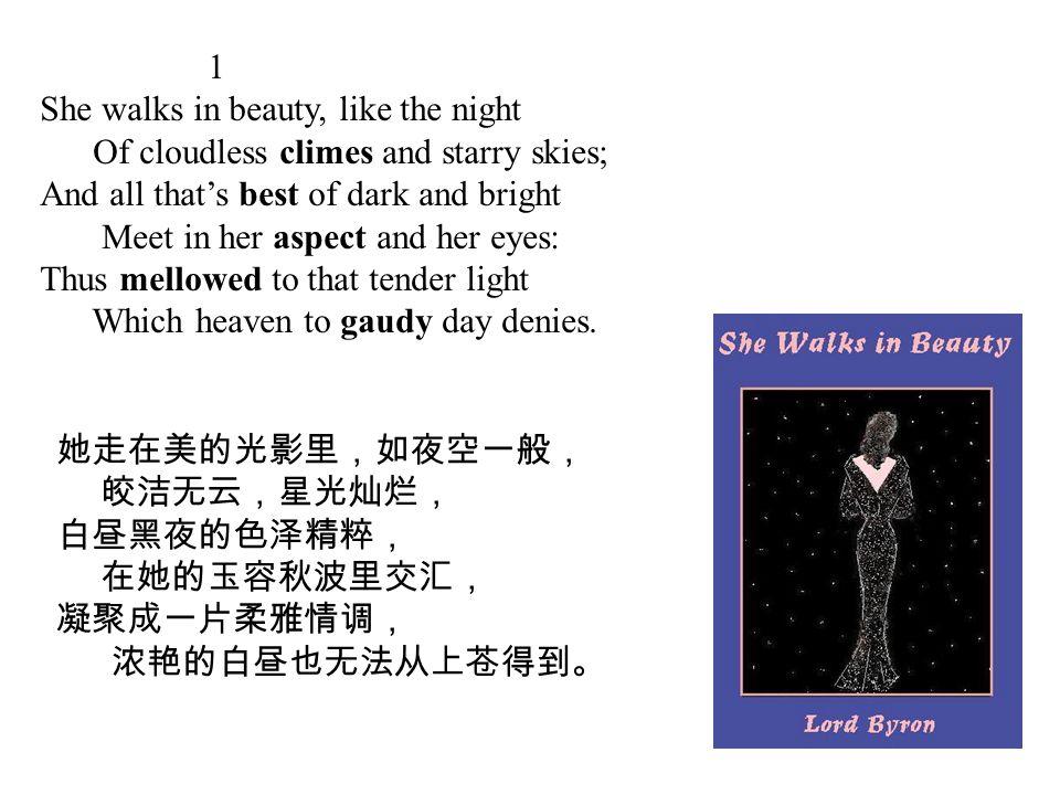 Poem Appreciation She walks in beauty