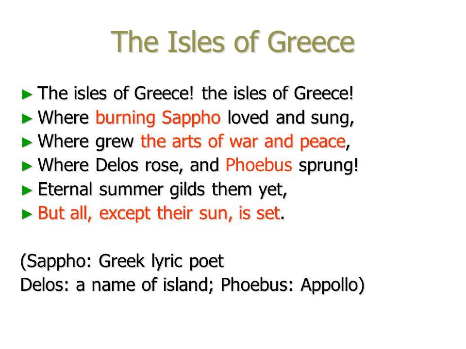 Poem Appreciation ► The Isles of Greece