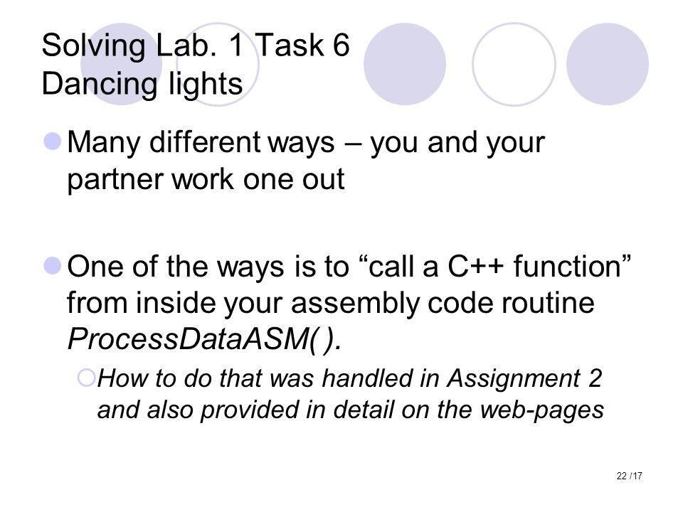 22 /17 Solving Lab.
