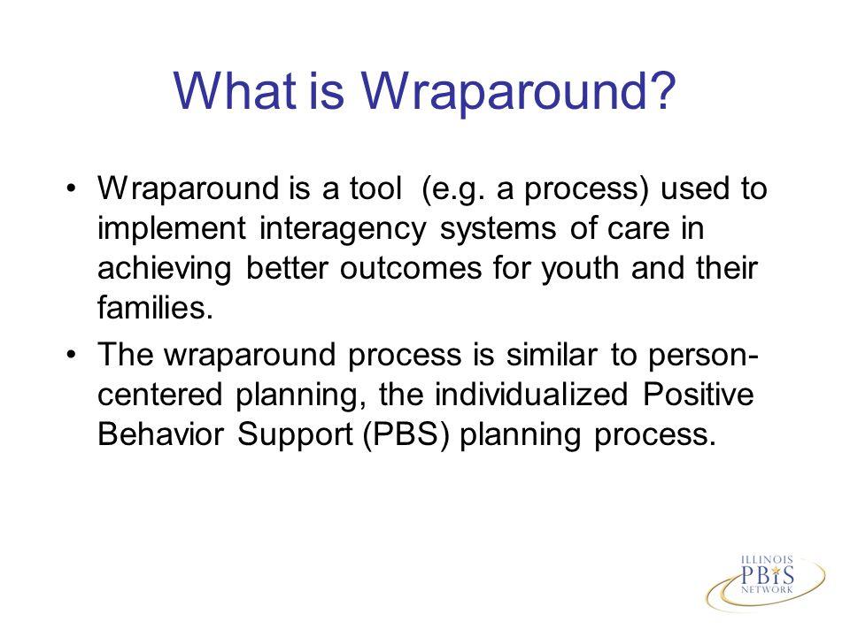 What is Wraparound. Wraparound is a tool (e.g.