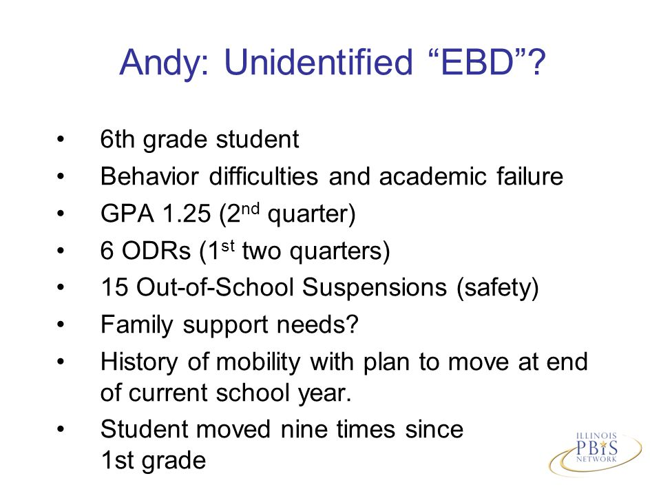 Andy: Unidentified EBD .