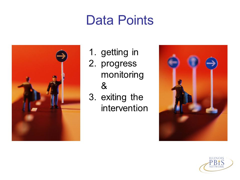 Data Points 1.getting in 2.progress monitoring & 3.exiting the intervention