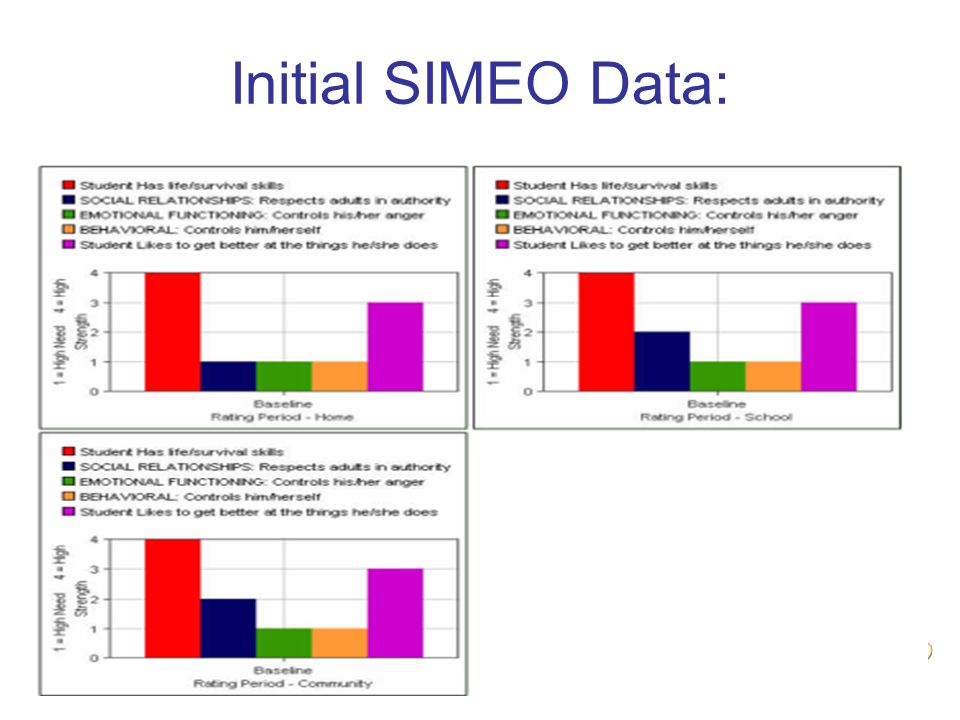 Initial SIMEO Data: