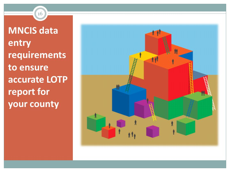 MNCIS data entry requirements to ensure accurate LOTP report for your county 16