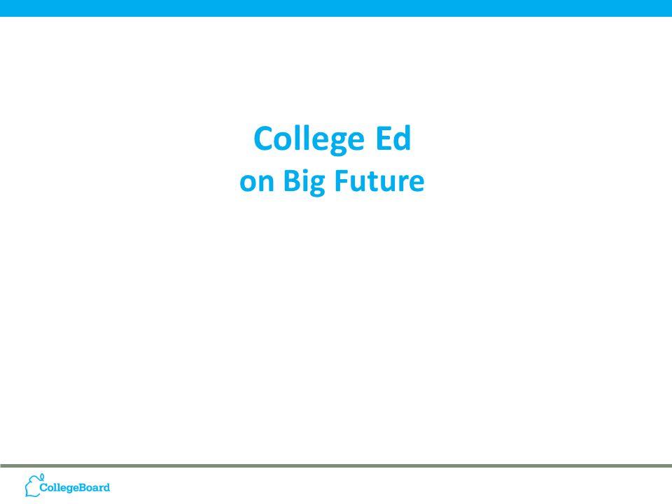 College Ed on Big Future