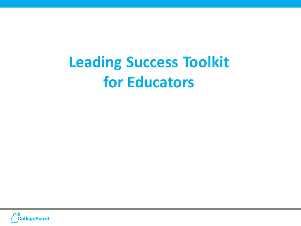 Leading Success Toolkit for Educators