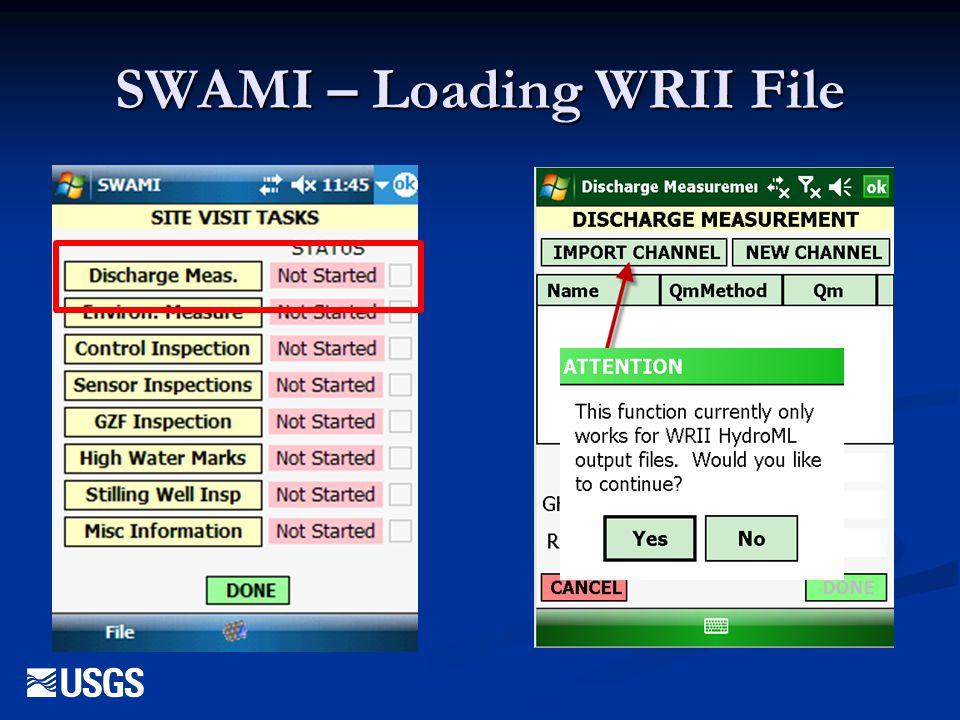 SWAMI – Loading WRII File