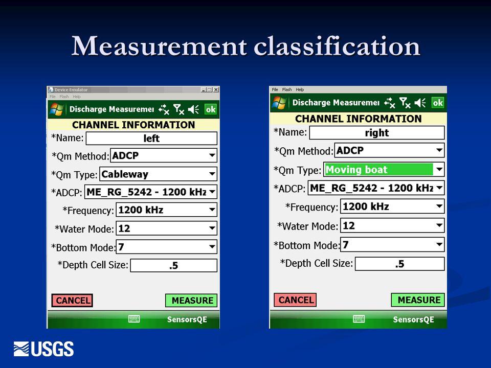 Measurement classification