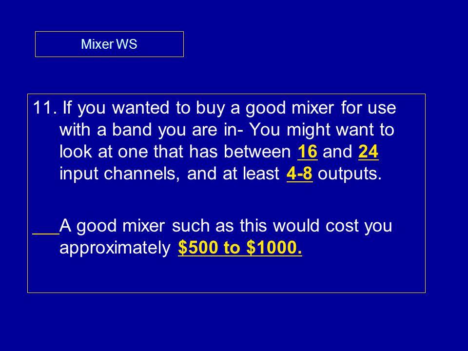 Mixer WS 11.