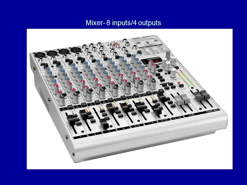 Mixer- 8 inputs/4 outputs