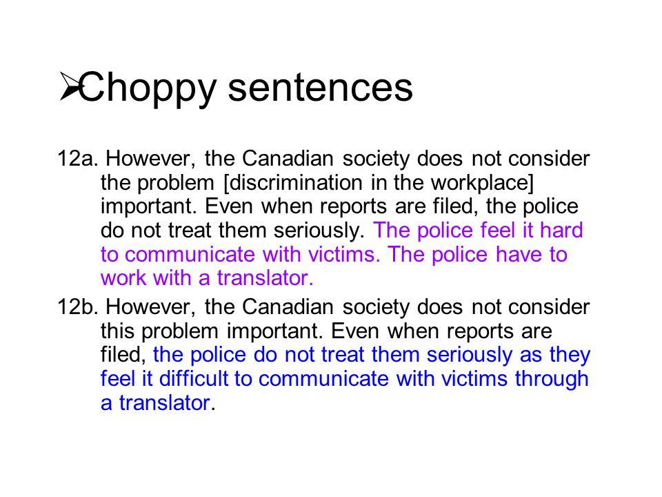  Choppy sentences 12a.