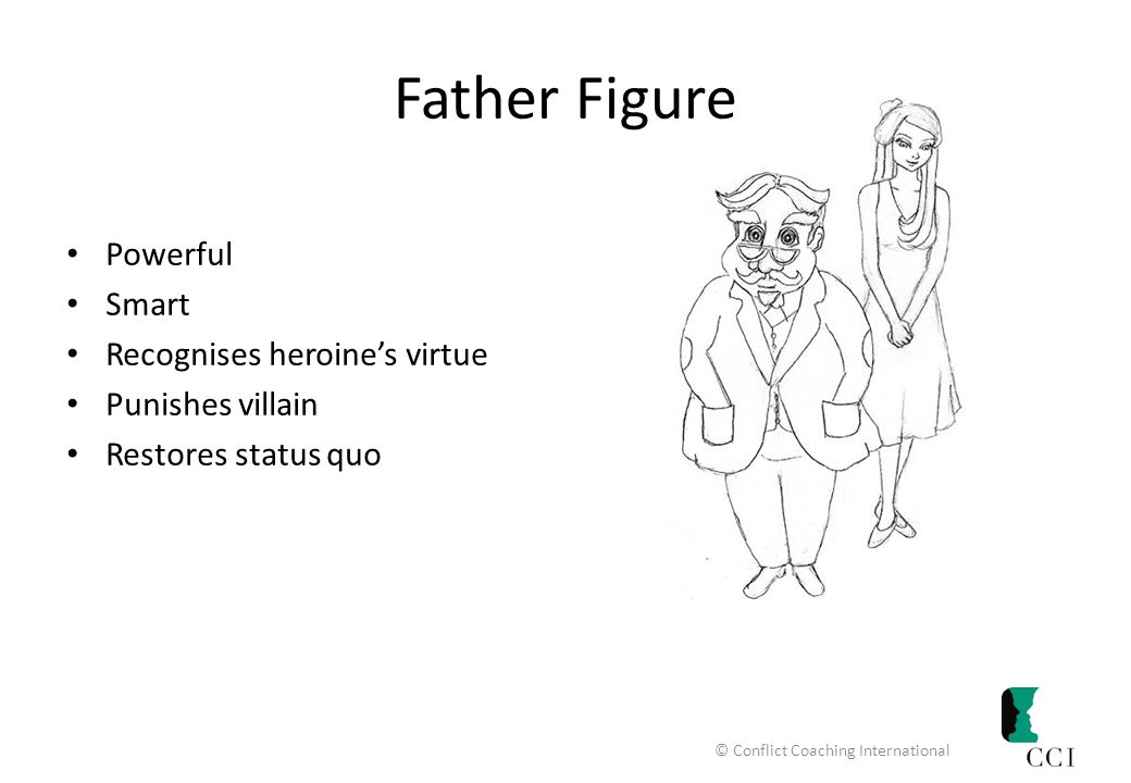 Father Figure Powerful Smart Recognises heroine's virtue Punishes villain Restores status quo © Conflict Coaching International