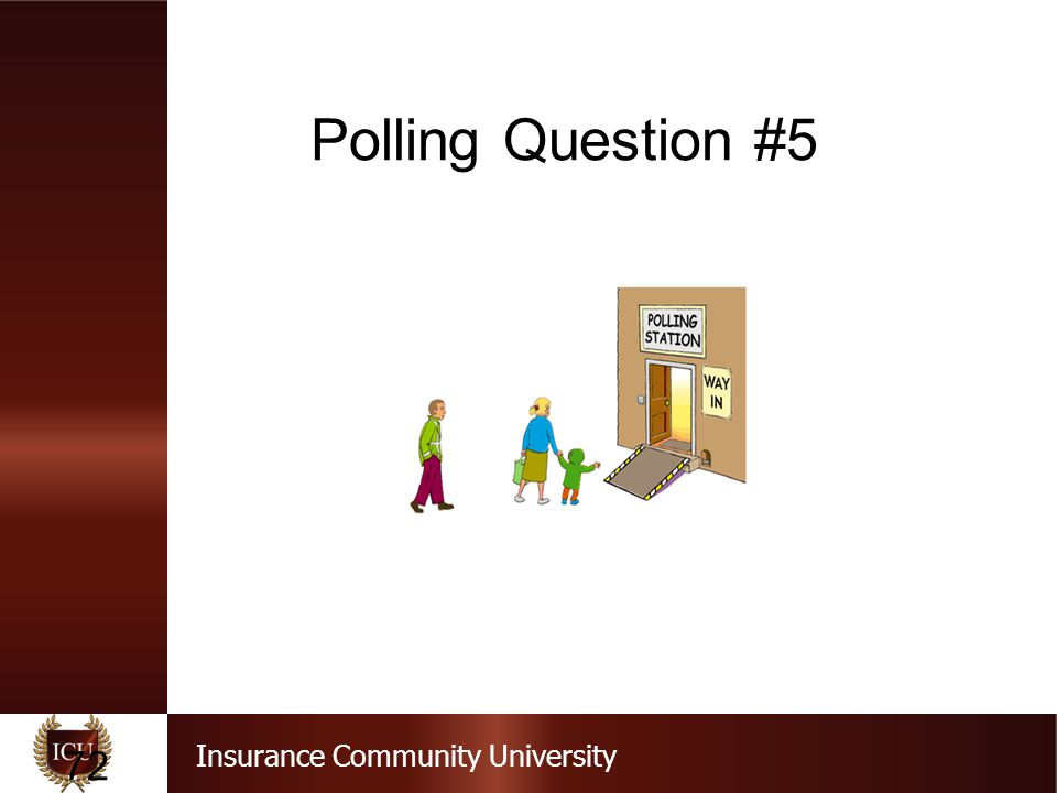 Insurance Community University Polling Question #5 72