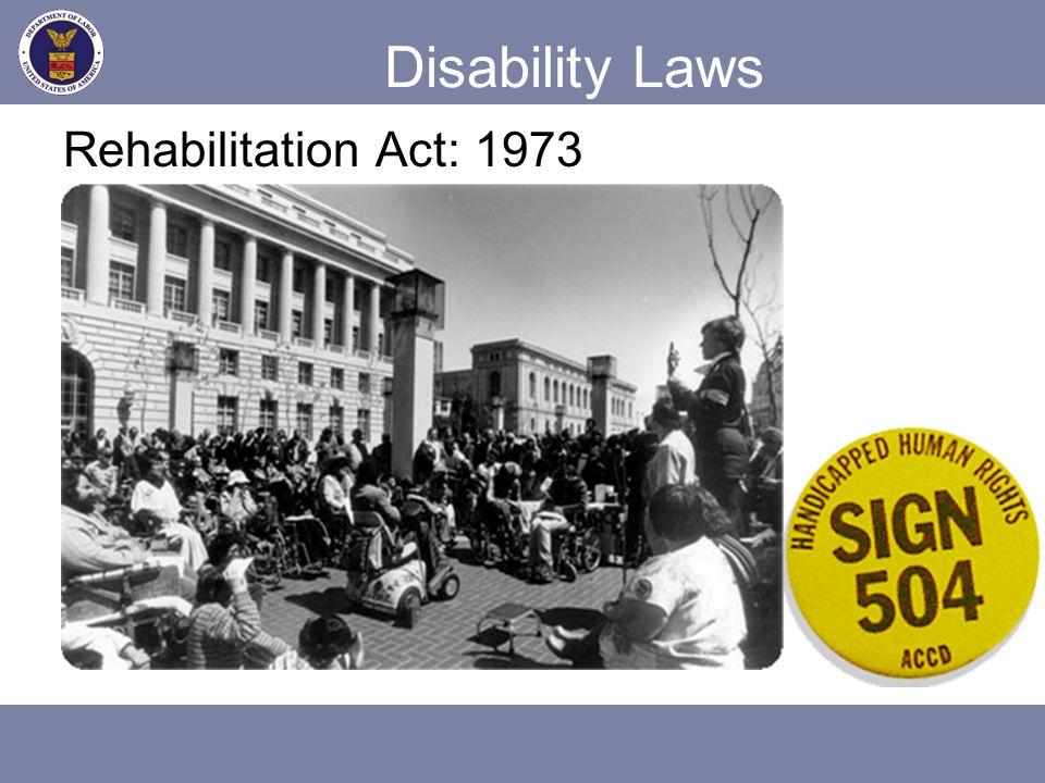 Disability Laws Rehabilitation Act: 1973