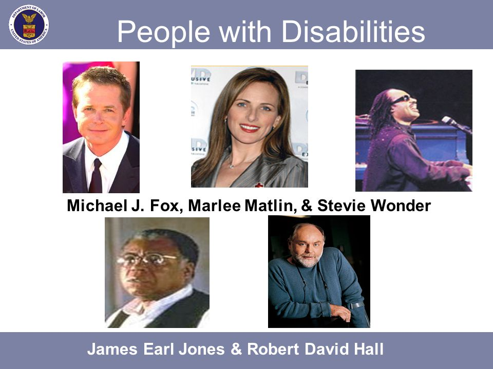 Communicating with People with Disabilities Don't Say Handicapped Crippled, lame The blind Suffers from a hearing loss Mute Nuts, crazy Say Person with a disability Person with a physical disability Person who is blind Person who is hard of hearing Person who communicates differently Person with a psychiatric disability