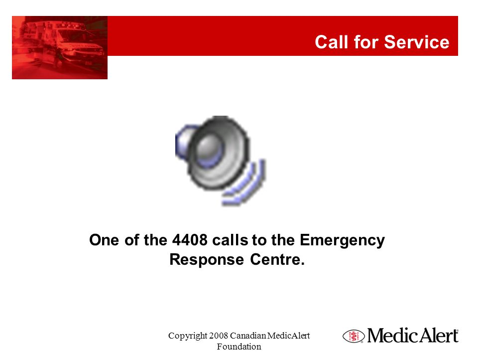 Call for Service One of the 4408 calls to the Emergency Response Centre.
