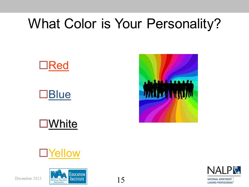 15 What Color is Your Personality 15December 2013