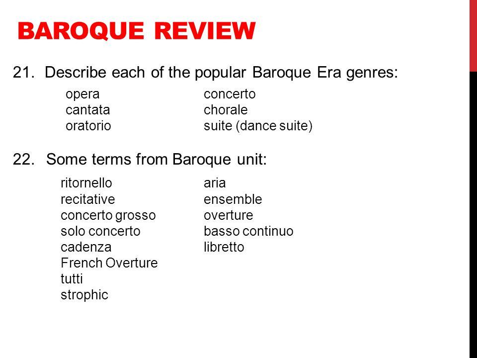 BAROQUE LISTENING Bach, Brandenburg Concerto No.5, mvt.