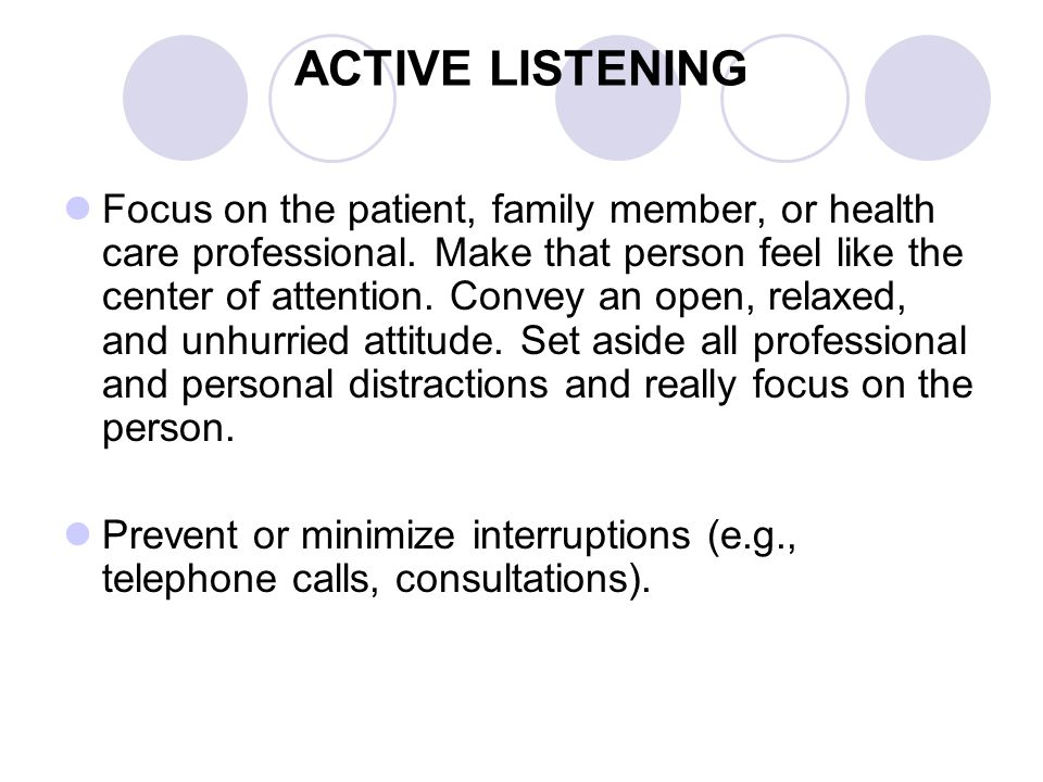 Overly communicative patients digress when asked even simple direct questions.