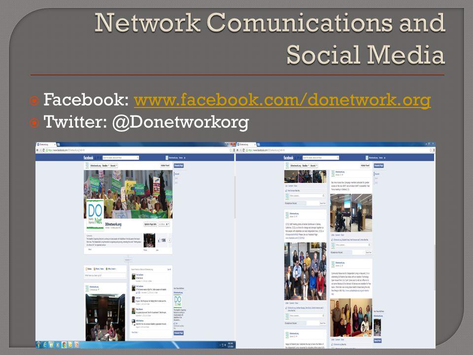  Facebook: www.facebook.com/donetwork.orgwww.facebook.com/donetwork.org  Twitter: @Donetworkorg