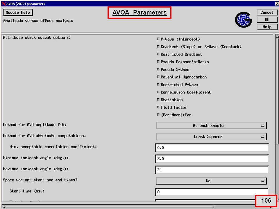 AVOA Parameters 106