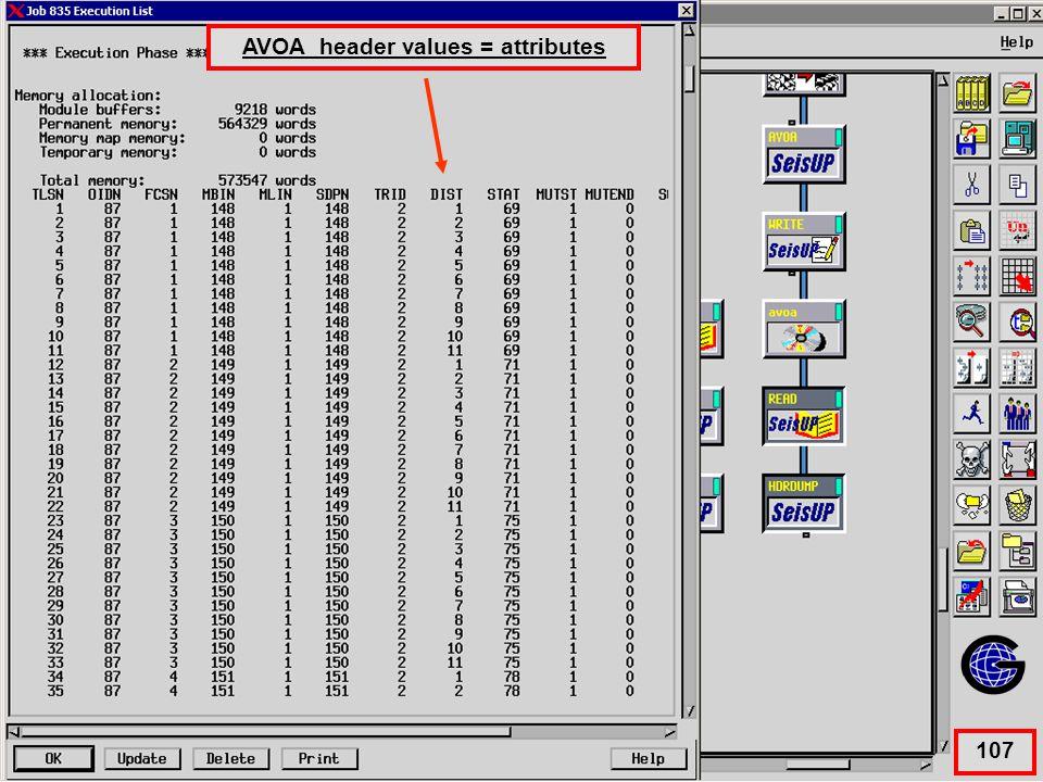 Avoa Header value = attributes AVOA header values = attributes 107