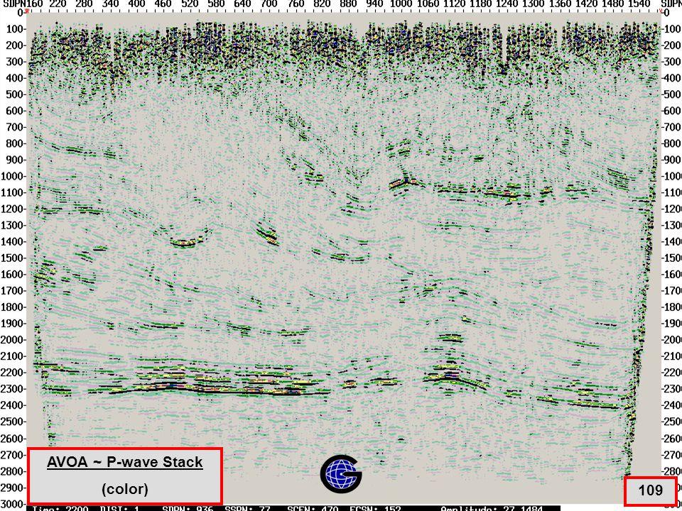 AVOA ~ P-wave stack - Color 109 AVOA ~ P-wave Stack (color)