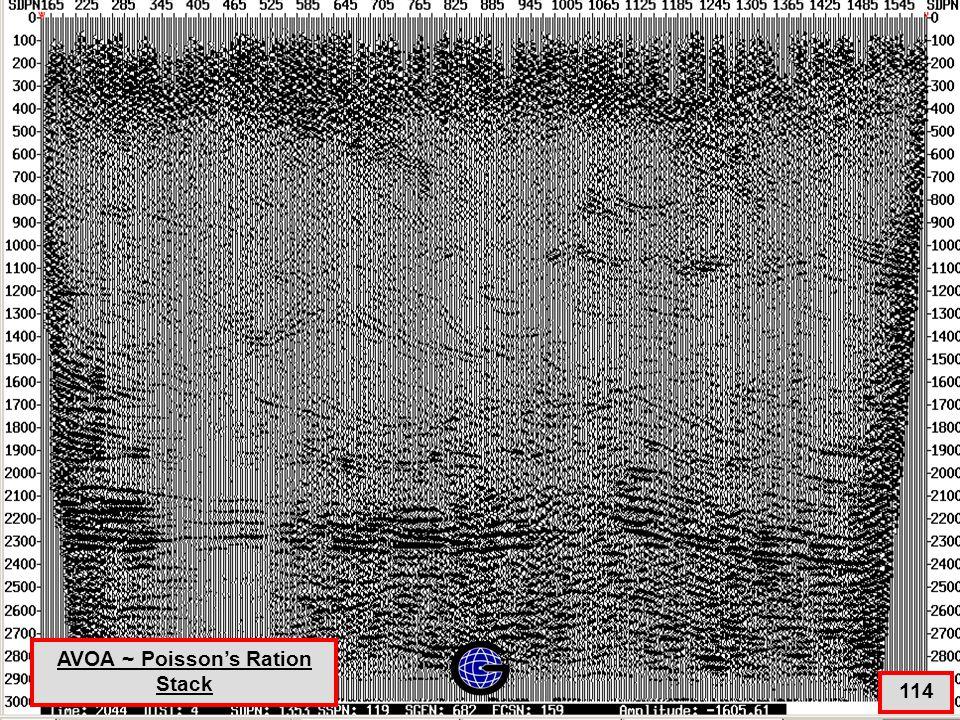 AVOA ~ Poisson's Ratio Stack 114 AVOA ~ Poisson's Ration Stack