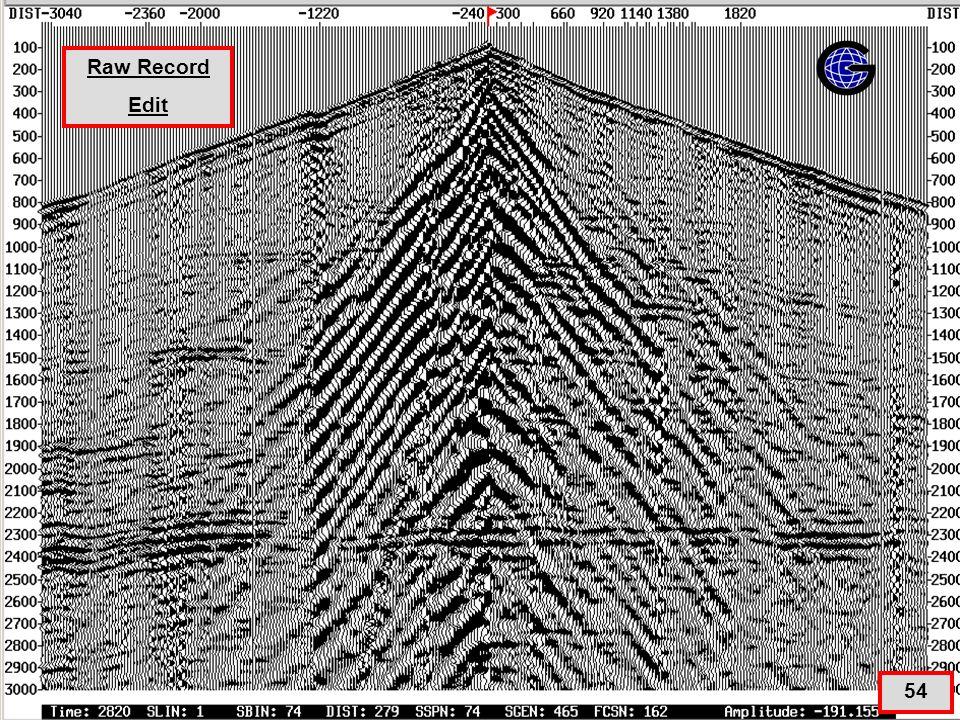 Geometry – Edit(qc2) 54 Raw Record Edit