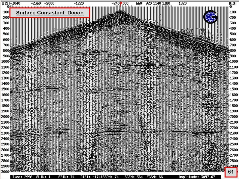 Surface Consistent Decon(qc6) 61 Surface Consistent Decon