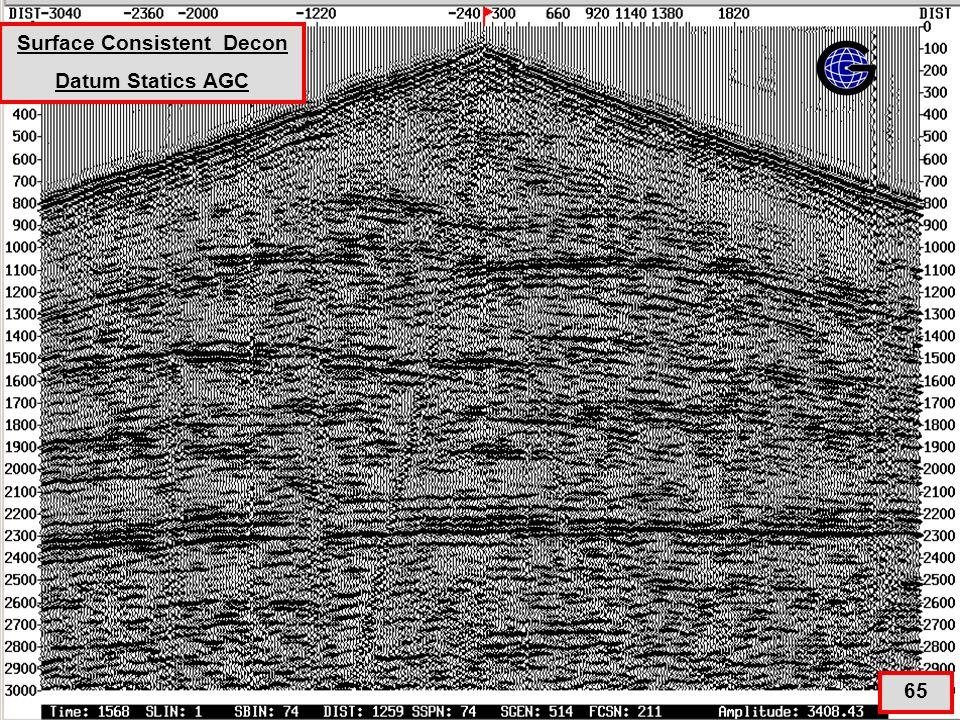 ScDecon+Datum Statics+AGC (qc8a) 65 Surface Consistent Decon Datum Statics AGC